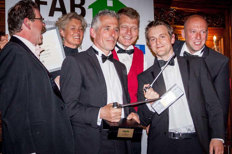 RIDBA (Rural & Industrial Design & Buildings Association) Company directors, Nick and Jonathon collecting an award
