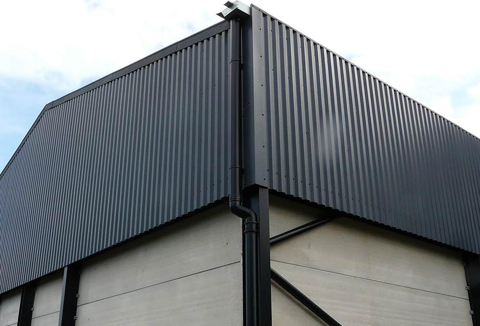 2000T Grain Store & Dryer Housing Corner Elevation