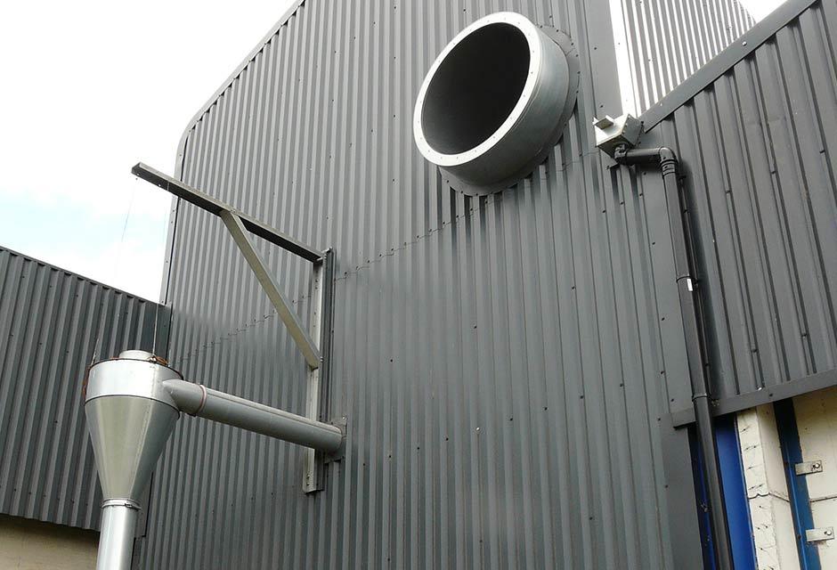 2000T Grain Store & Dryer Housing Venting