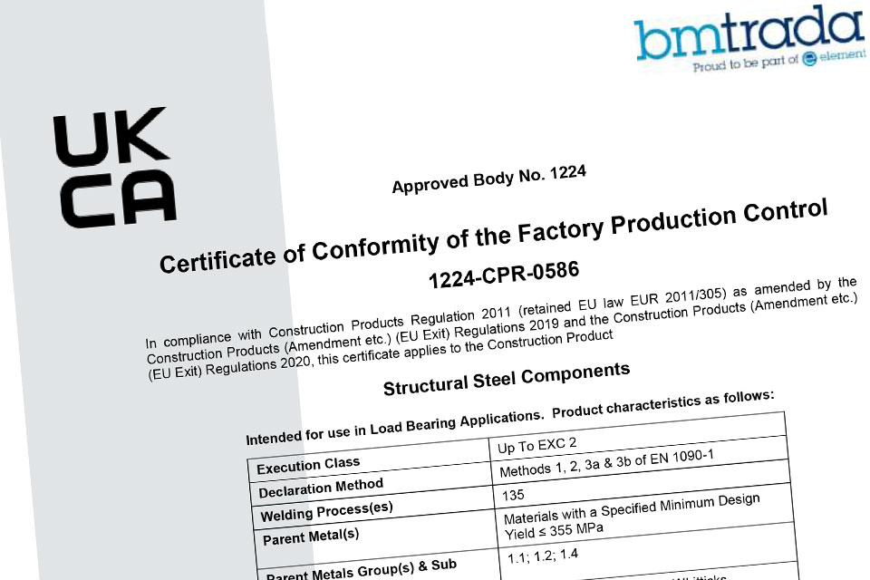 Certificate of Conformity - Factory Production Control- 2020-2025